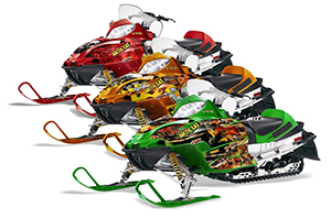 Arctic Cat Firecat F5 / F6 / F7 Sled Custom Graphic Kit - 2003-2006