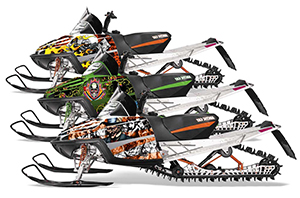 Arctic Cat M Series / Crossfire Sled Custom Graphic Kit - All Years