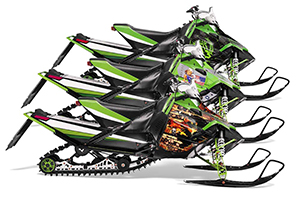 Arctic Cat Sno Pro Race 500 / 600 Sled Custom Graphic Kit - 2008-2011
