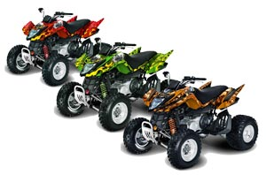 Arctic Cat DVX250 ATV Custom Graphic Kit - All Years