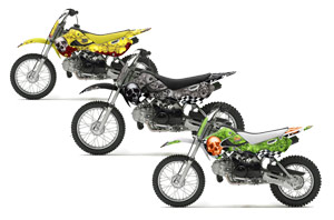 Suzuki DRZ 110 Dirt Bike Custom Graphic Kit - All Years