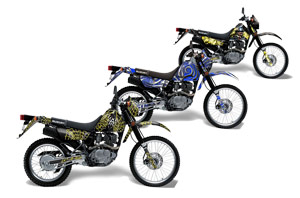 Suzuki DRZ 200 SE Dirt Bike Custom Graphic Kit - 1996-2009
