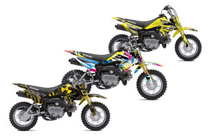 Suzuki DRZ 70 Dirt Bike Custom Graphic Kit - 2008-2016