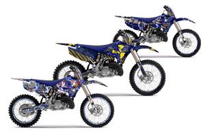 Yamaha YZ125 Dirt Bike Custom Graphic Kit - 2002-2014