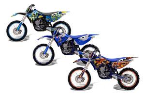 Yamaha YZ250 4 Stroke Dirt Bike Custom Graphic Kit - 1989-2002