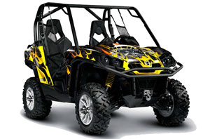 Can-Am Commander 1000 / 800 Graphic Kit - All Years Motorhead Black